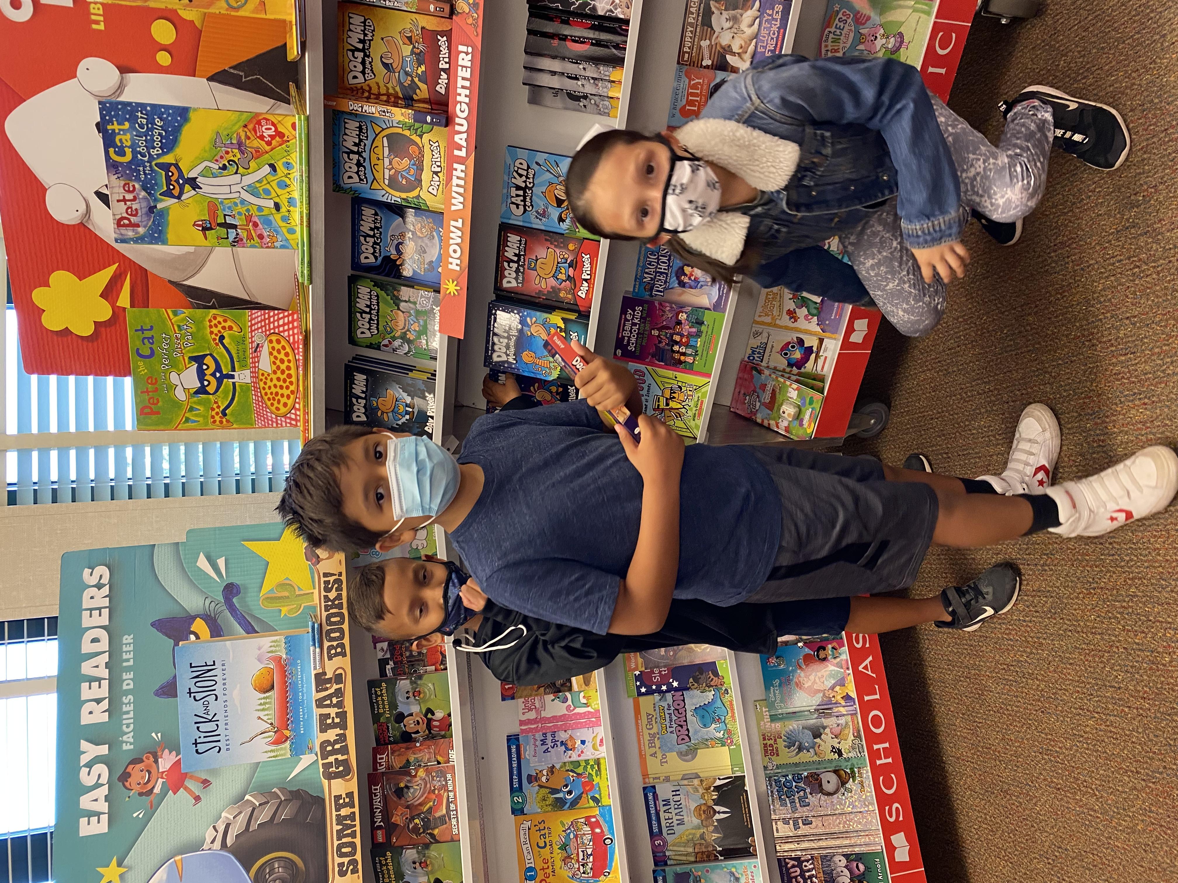 shopping at the book fair