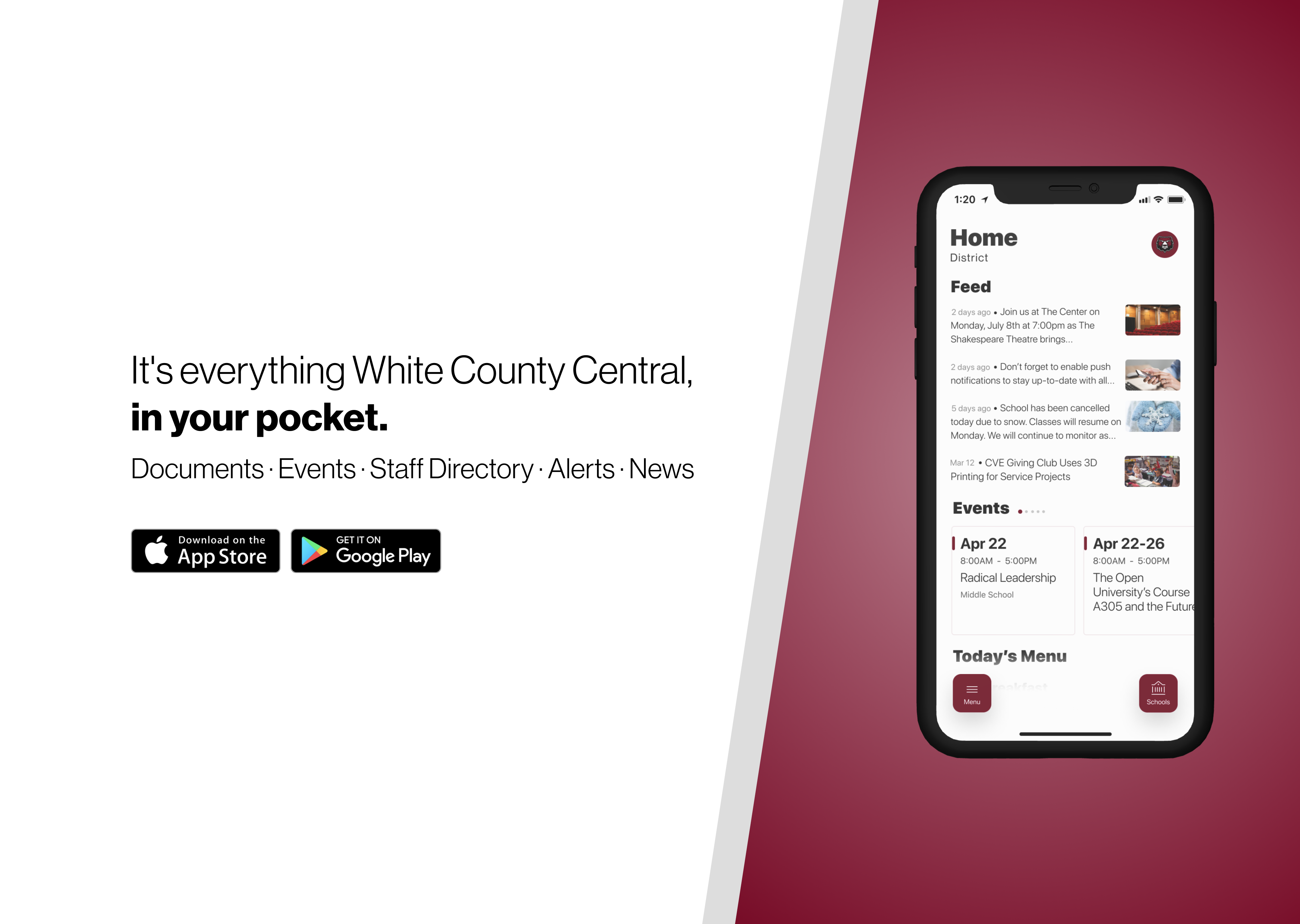 download the school mobile app