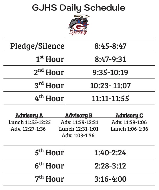 GJH Daily Schedule