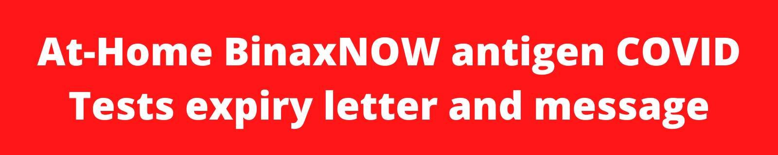 BinaxNOW Information