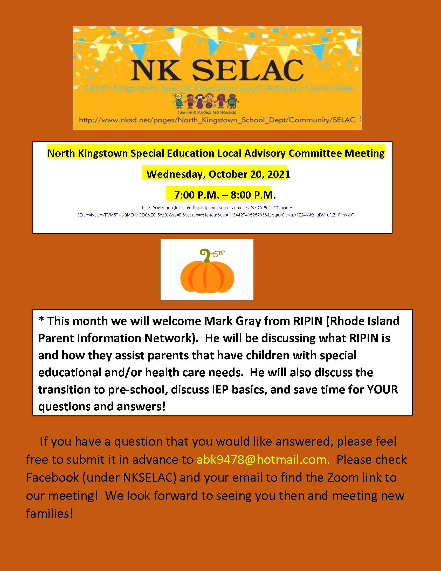 October  Selac