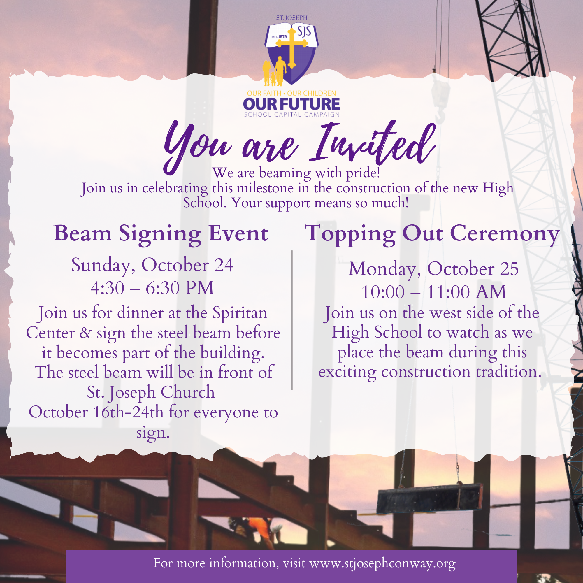Beam Signing & Topping Out