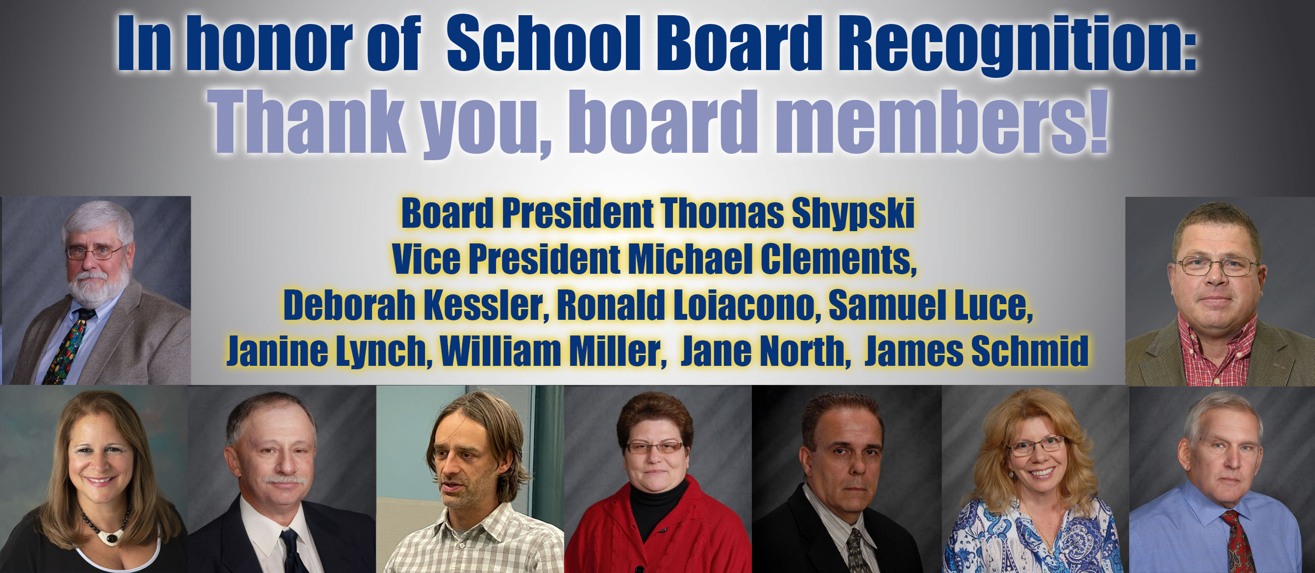 Thank you to Herkimer BOCES Board of Education members for School Board Recognition