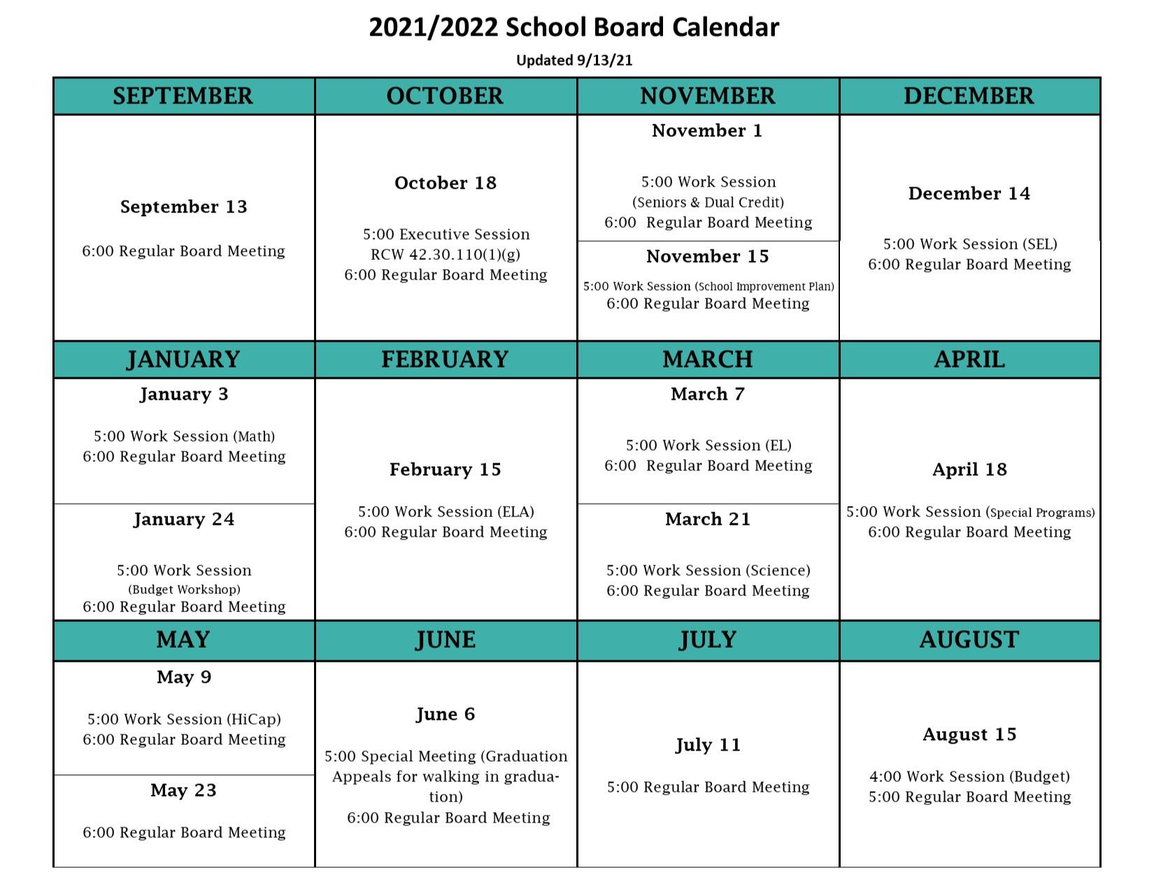 Board Calendar