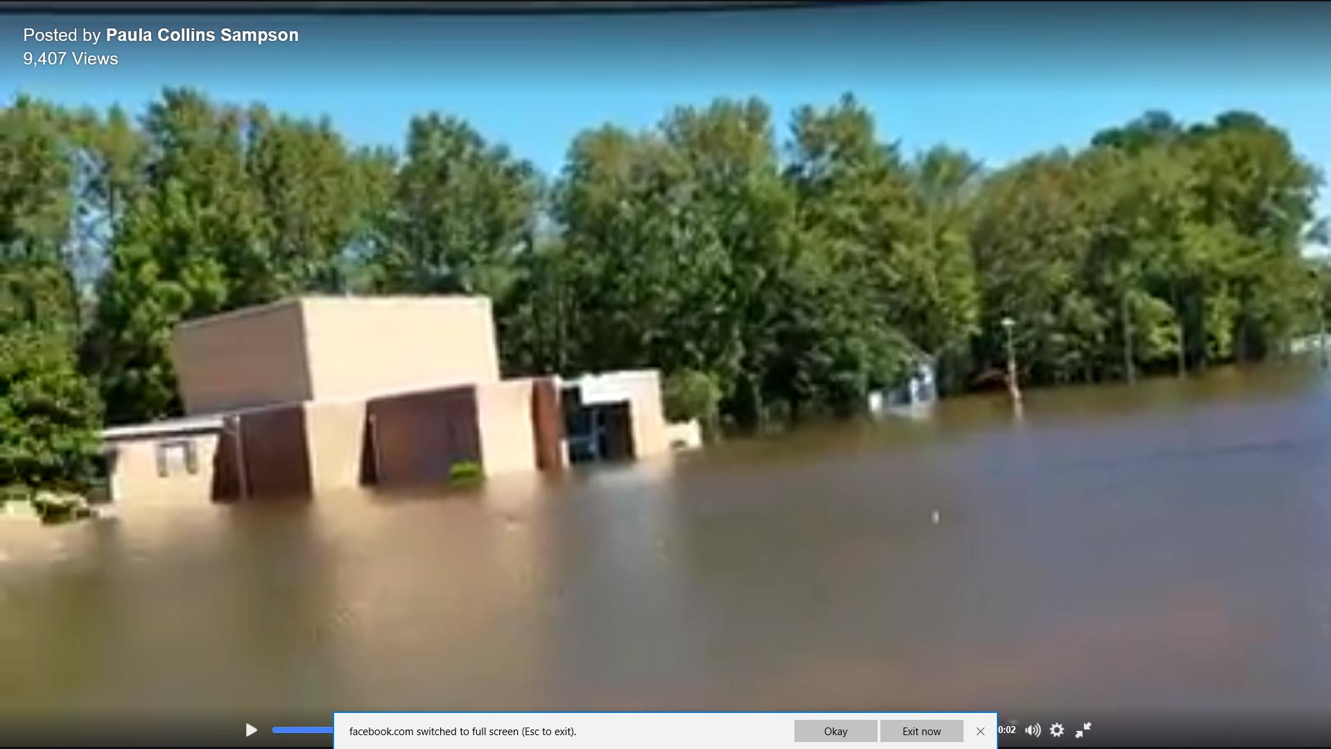 Flooded planetarium, 10/9/16