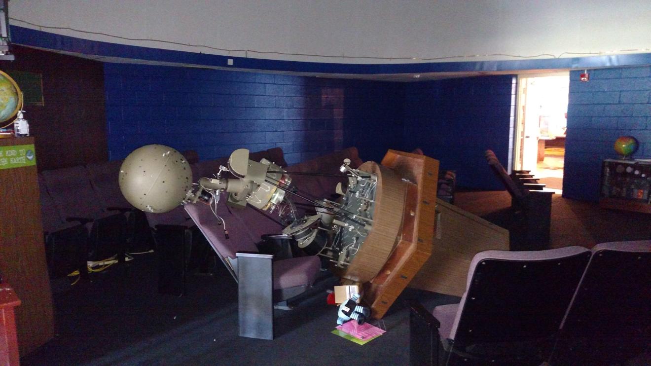 the fallen planetarium projector