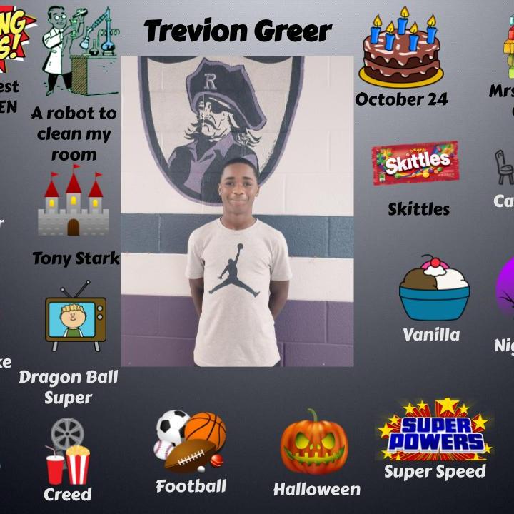 Trevion Greer  - Jr.High September Student spotlight.