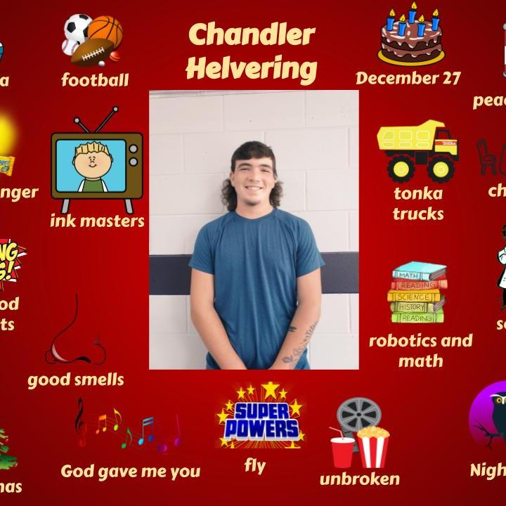 Chandler Helvering  - High School October Student Spotlight .