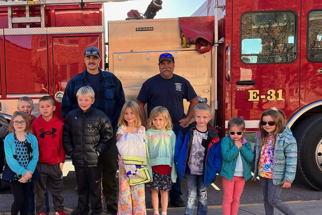 Kids with Firemen