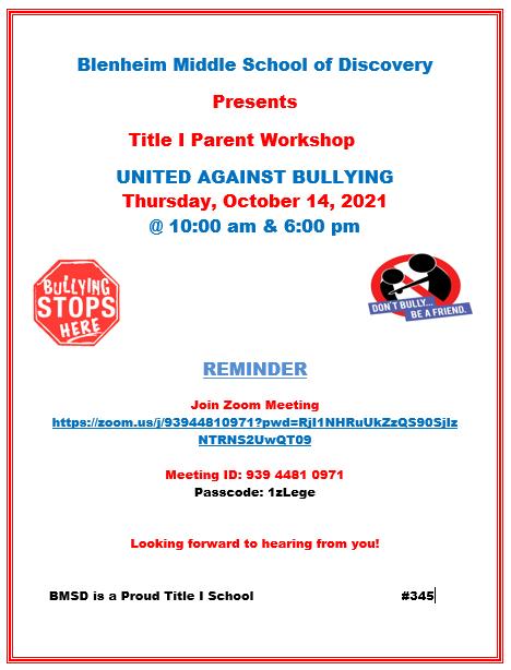 Bullying Workshop