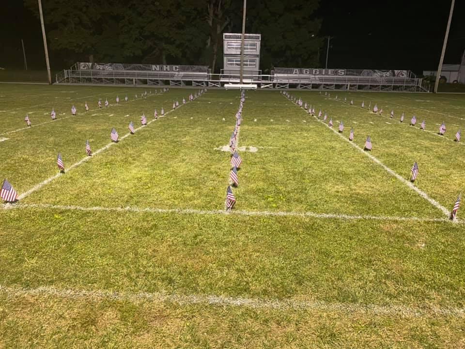 Football feild at dusk 911