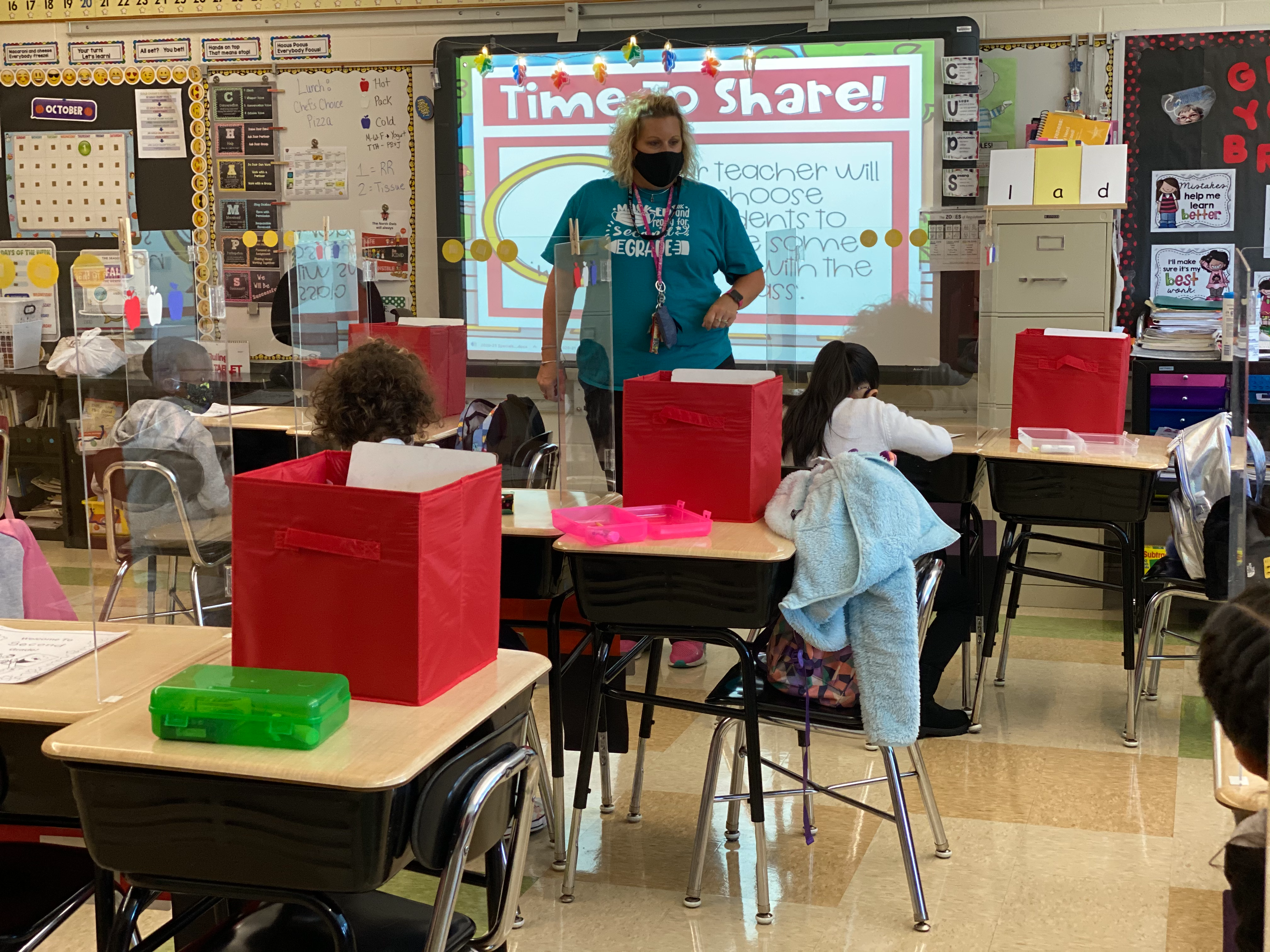 Mrs. Sterwerf working with students