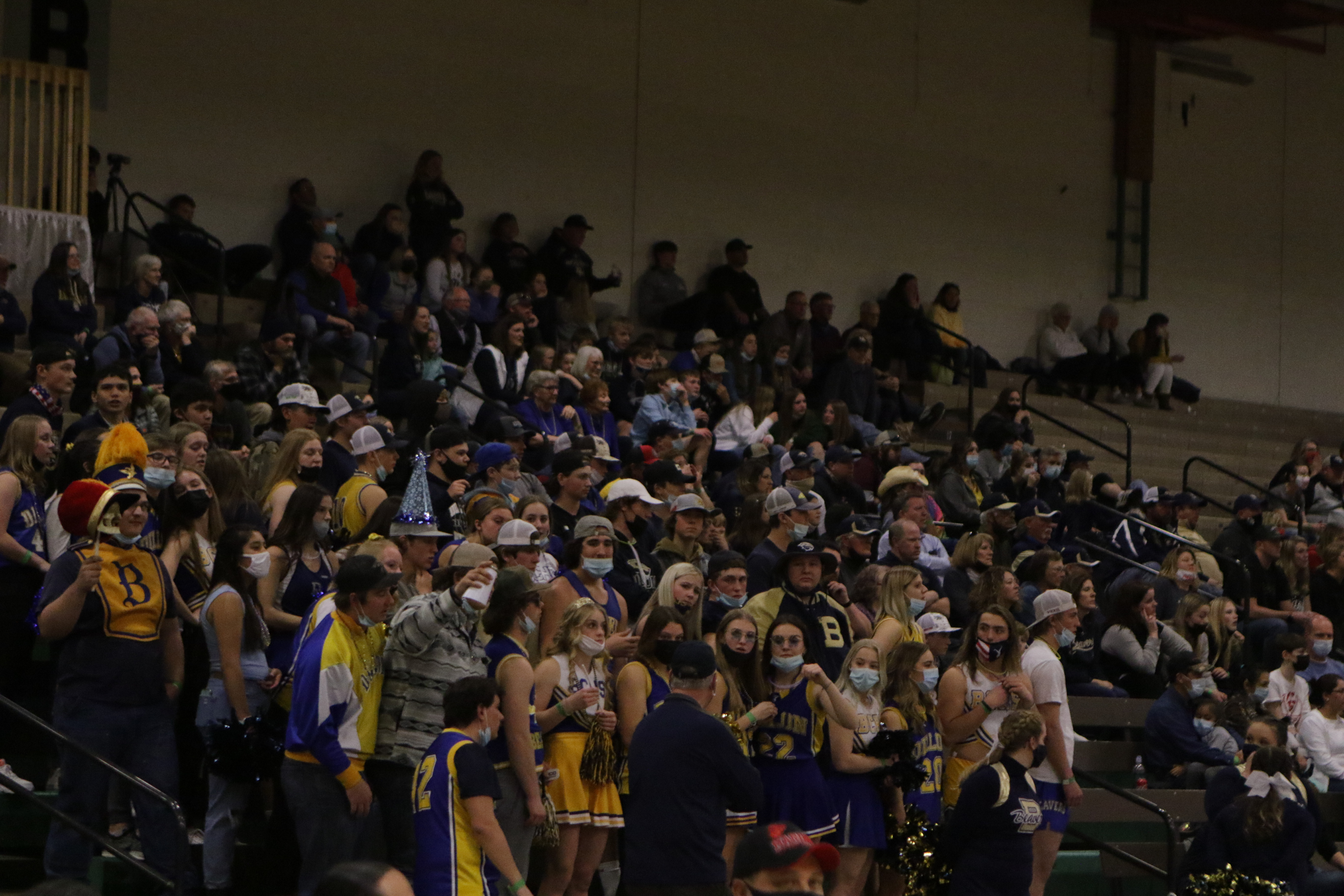 Fans cheer at the Divisional Championship Game