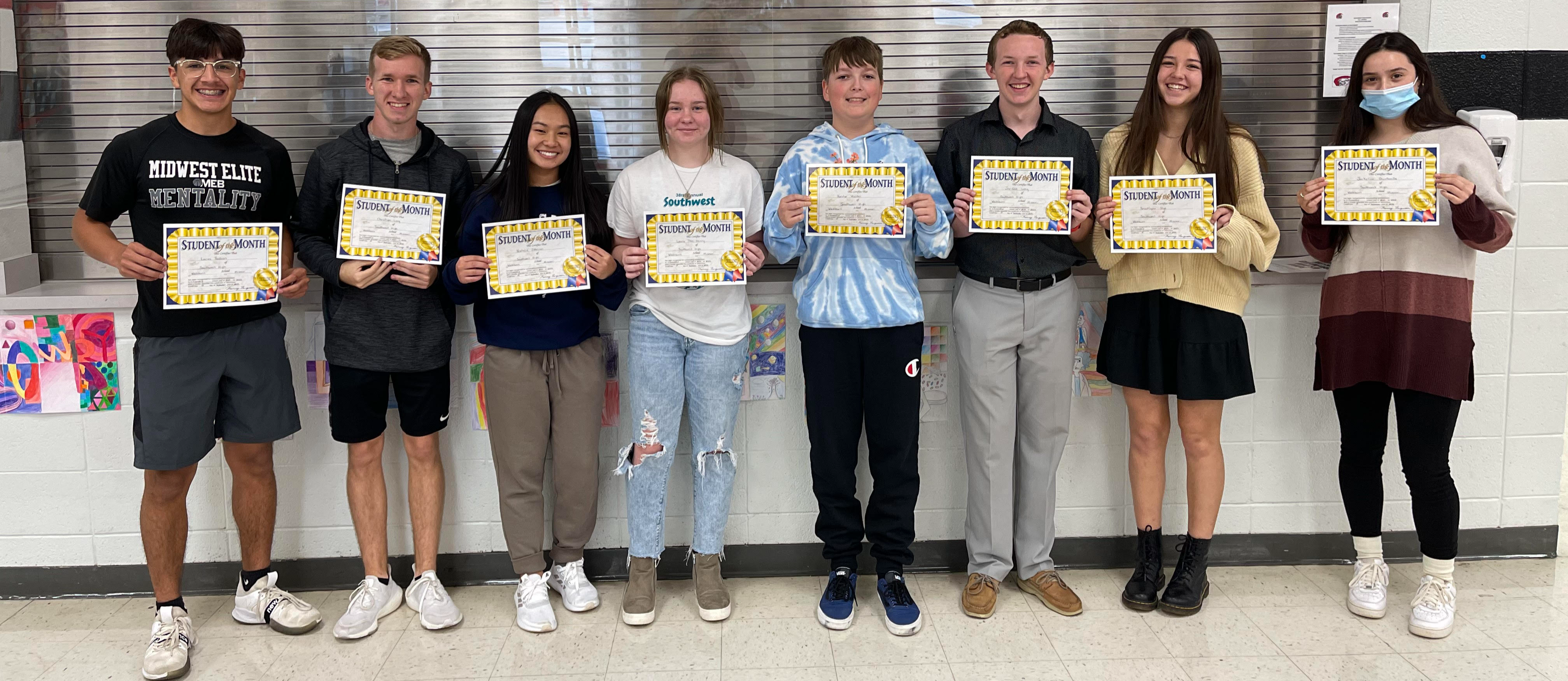 September HS Students of the Month